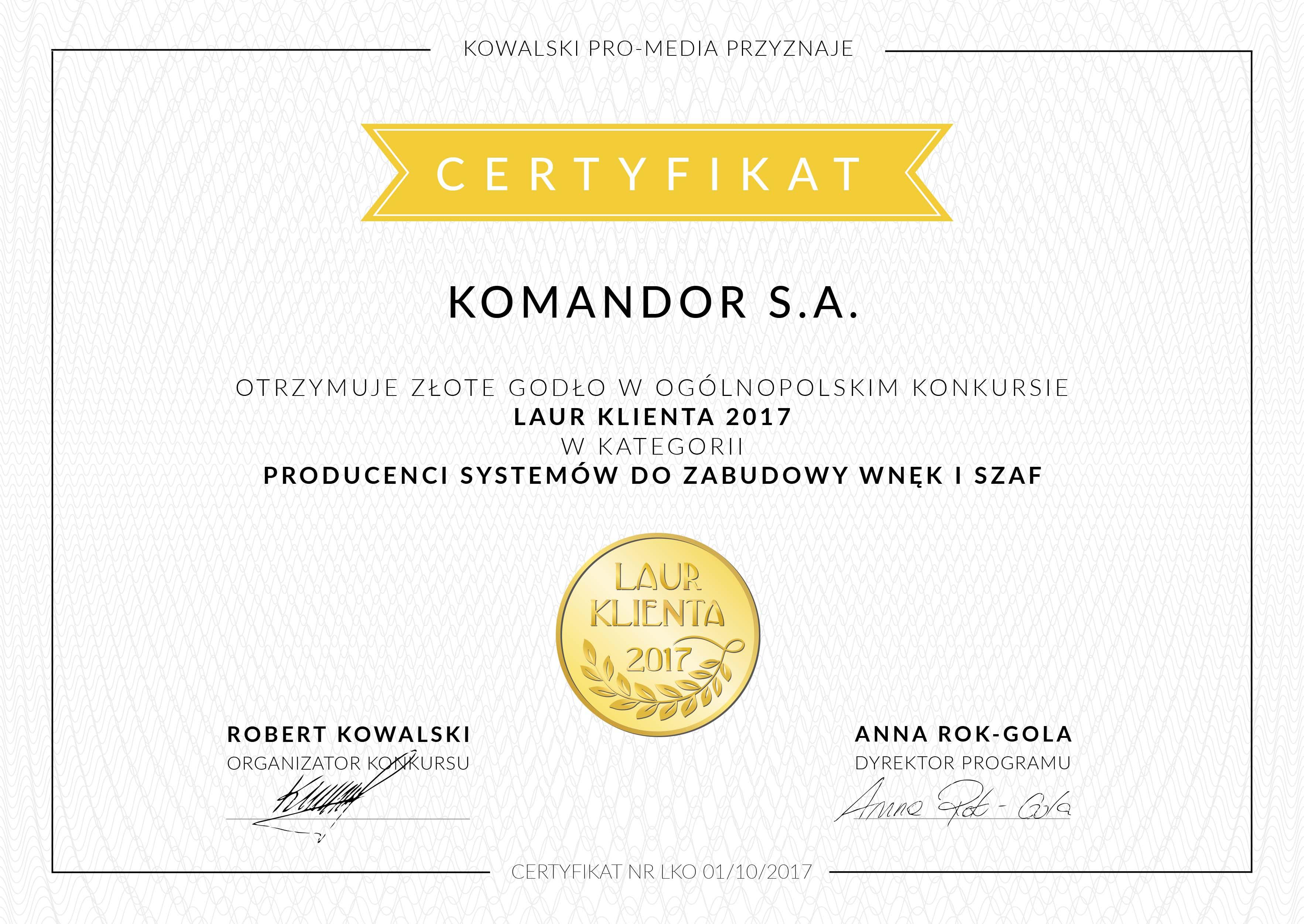zlotyKlientaKomandor
